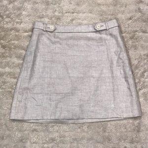J. Crew bonded linen mini skirt Size 6